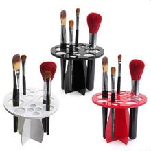 2017 1PC Stand Makeup Folding Air Drying Brush Rack Holder Acrylic Cosmetic Artifact Round Type Without Brush Free Shipping I030(China (Mainland))