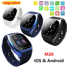Waterproof M26 Bluetooth Smart Watch With LED Alitmeter Music Player Pedometer