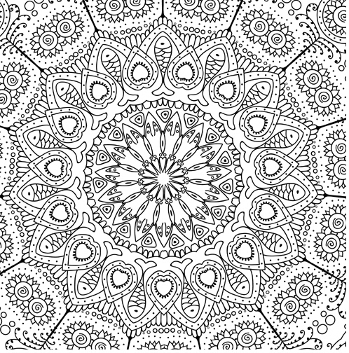 Zen Coloring Pages Pdf : Zen mandalas coloring book in books from office school