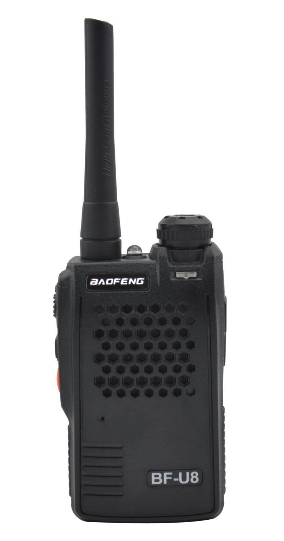 Free shipping Baofeng BF-U8 UHF 400-470MHz Small Mini Pocket Interphone Transceiver Two way radio Walkie Talkie with flashlight(China (Mainland))