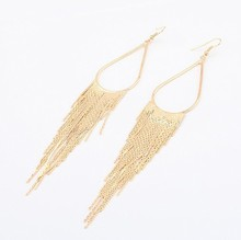 Luxury Gold Silver Plated Tassel Pendientes Fashion Spike Drop Earring Vintage Fine Jewelry Accessories For Women 2015 New(China (Mainland))