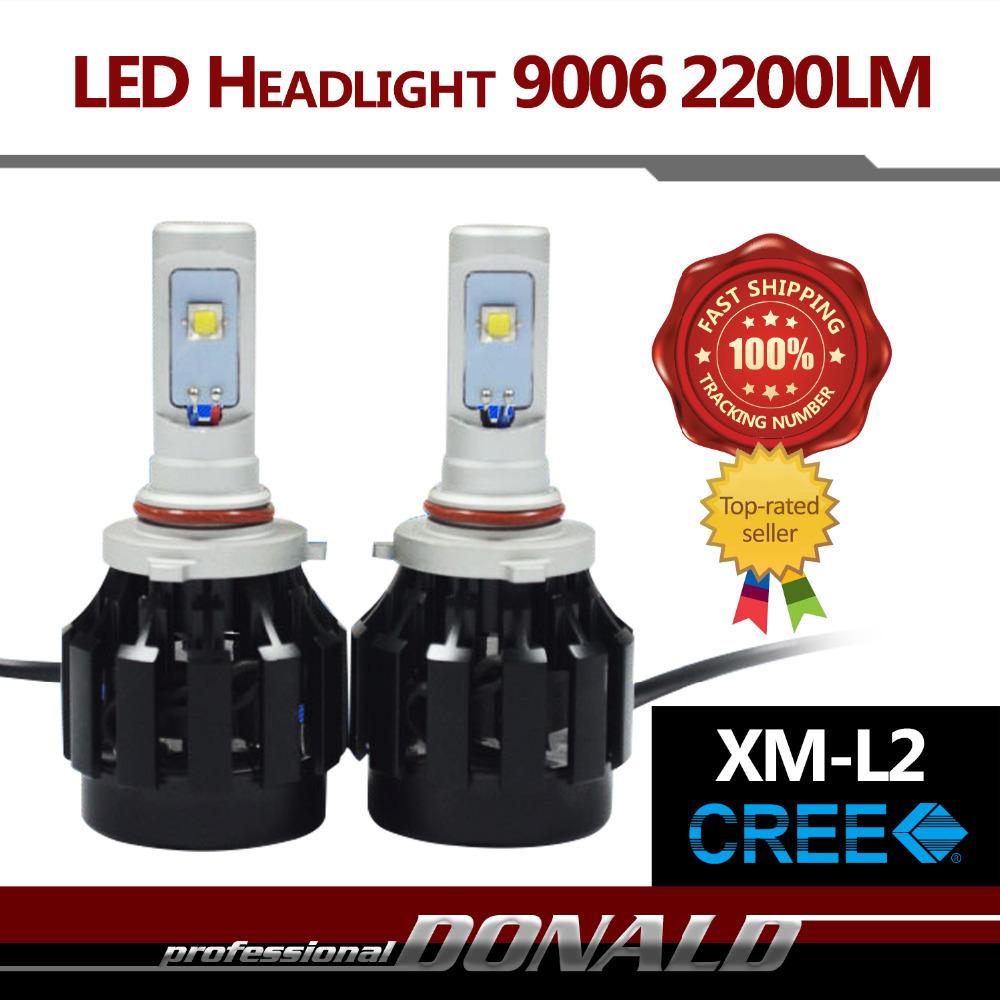 2x 9006 HB4 ALL IN ONE 40W/Set 4400LM Top CREE XM-L2 LED Car Auto Xenon White Fog Headlight Bulb Light Source Arrival 200M Range(China (Mainland))