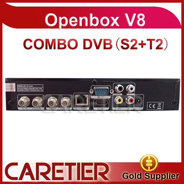 best selling model free shipping openbox v8 combo receiver dvb-s2 +t2 free shipping by DHL 2pcs/lot(China (Mainland))