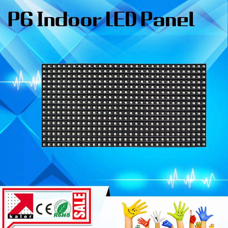 P6 full color led display module 32*16pixel 192*96mm led panel display module full color led screen indoor led advertising board(China (Mainland))