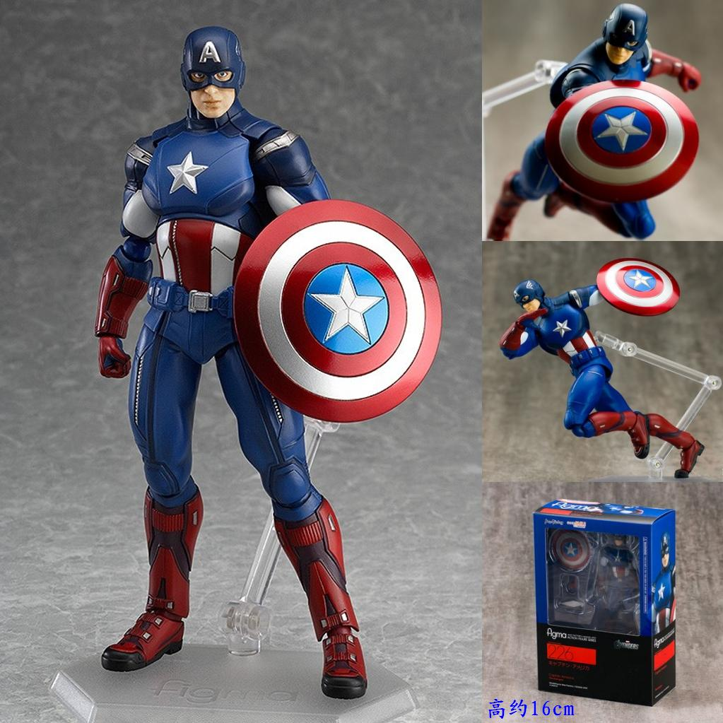 Avengers Figma 266 Captain America PVC Action Figure Collectible Model Toy 16cm HRFG434<br><br>Aliexpress
