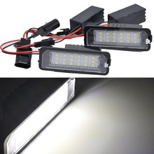 Free shipping 2X Canbus auto light Golf 5 Golf6 Golf 7 golf led license plate light tail light car styling for VW MK5 GTI Golf7
