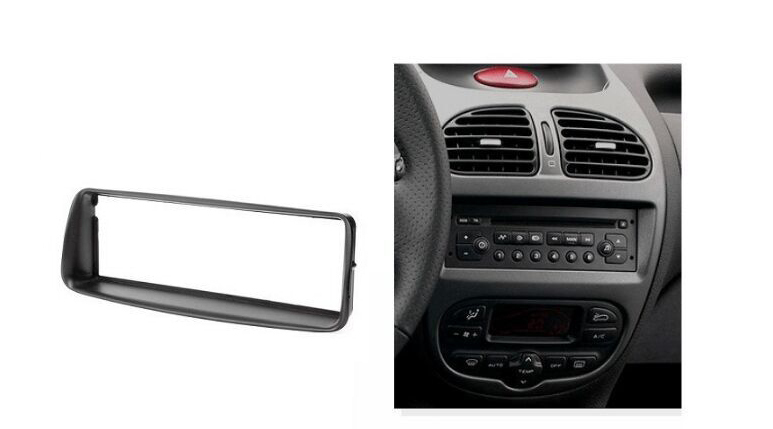 single din audio fascia for peugeot 206 stereo radio gps. Black Bedroom Furniture Sets. Home Design Ideas