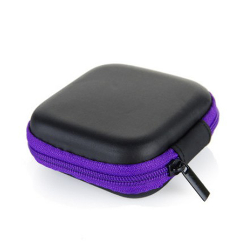 1Pc Headphones Earphone Cable Earbuds Storage Hard Case Carrying Pouch bag SD Card Hold box(China (Mainland))