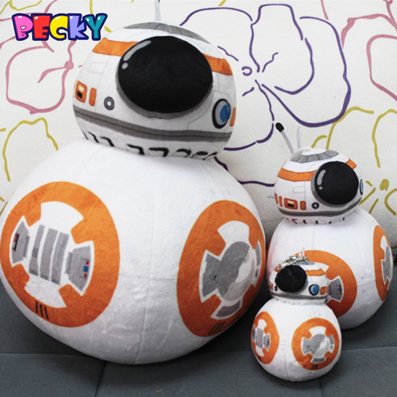 Becky 2016 New Star Wars 7 The Force Awakens BB8 Plush Toy Soft Stuffed Plush Doll KidsToy Children baby Gifts<br><br>Aliexpress
