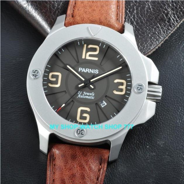 Сапфировое стекло 47 мм PARNIS Японский Автоматический Self-ветер движение мужские часы Механические Наручные Часы Высокого качества