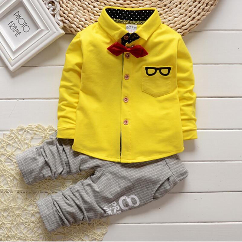 2016 spring autumn baby boys/girls clothes set children outfits gentleman clothing set glasses cardigan 2pcs kids sport suit set(China (Mainland))
