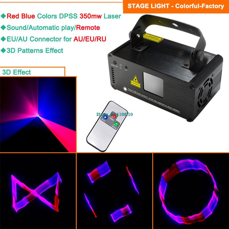new 350mw R&B laser 3D Projector remote scanning DJ environment dance bar Christmas club Party Disco stage effect Light Show 107(China (Mainland))