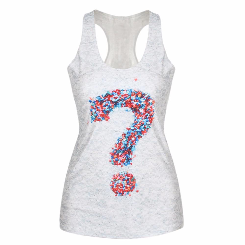 Women's Summer T Shirt Punk Club Sleeveless Costume 3D T-Shirts Women Fashion Leisure Vests Breathable