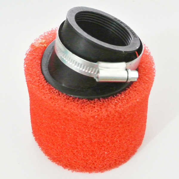 Red Air Filter Double Foam Peformance 45mm Angled Fr 110cc 125cc Pit Dirt Bike<br><br>Aliexpress