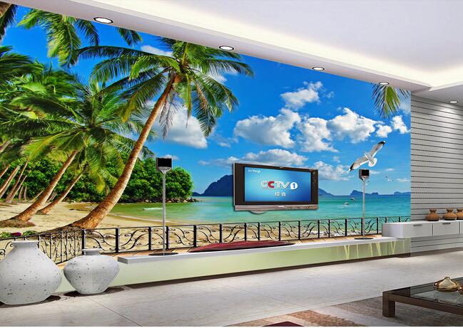 Custom Photo Wallpaper Hawaii Beach Murals For The Living Room Bedroom Tv Background Wall