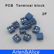 500 pcs 2 Pin Screw blue PCB Terminal Block Connector 5mm Pitch(China (Mainland))