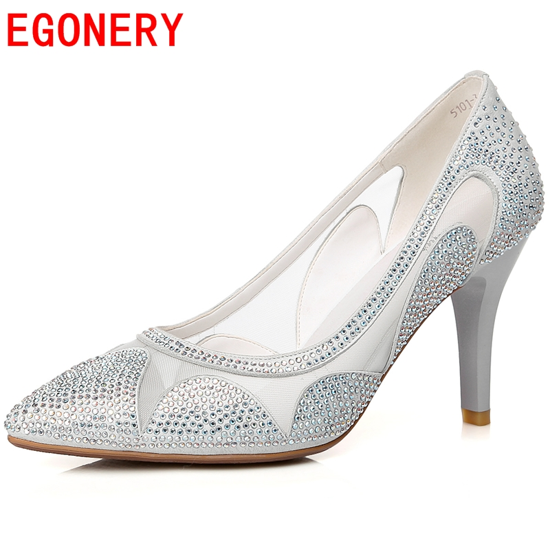 2015 Cut-Outs pumps Patent Leather summer style Thin Heels Full Grain Pointed high Spike heels woman shoes