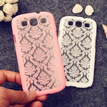 Rubberized Painted for For Samsung Galaxy Neo DUOS i9300i bag Dream Catcher Vintage Damask Flower Hard Plastic phone skin(China (Mainland))