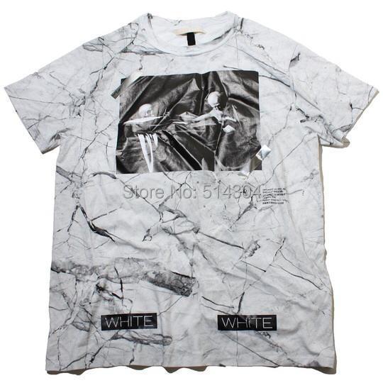 Мужская футболка 2015 /tshirt CO abloh Pyrex