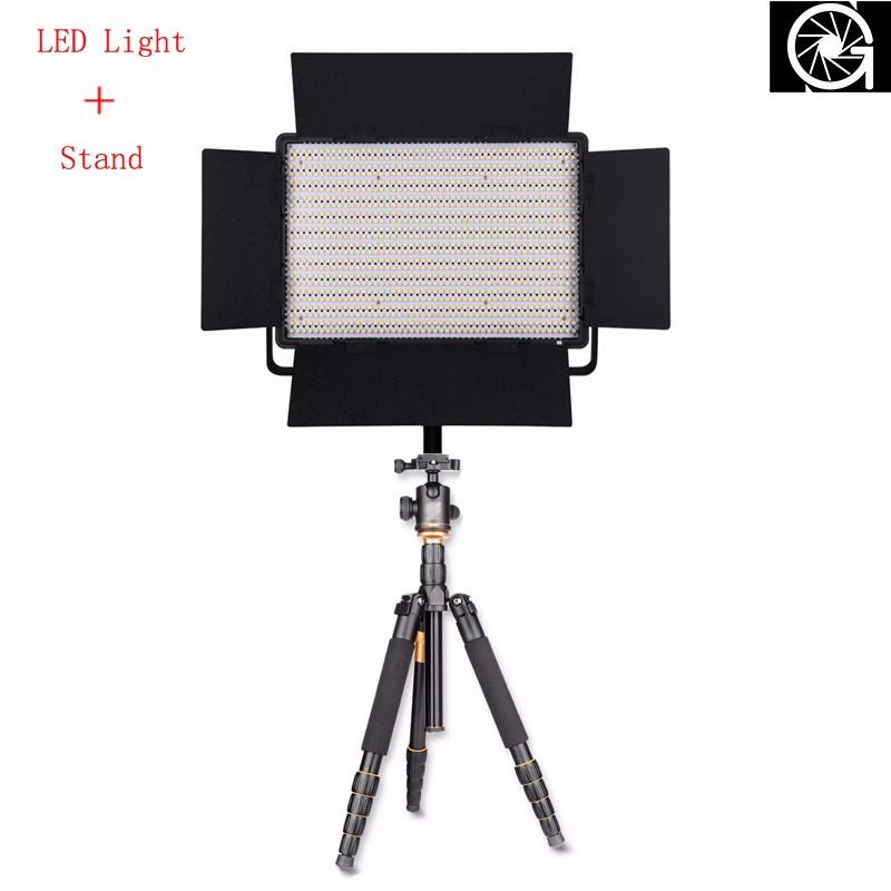 Nanguang CN-1200SA Photography/Photo/Studio/phone 1152 LED 5600K Dimmable Video Studio Light Lamp & Tripod Stand Gifts Wholesale(China (Mainland))