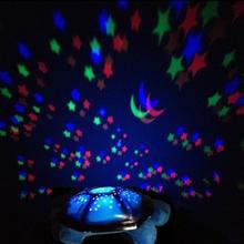 Eléctrico Tortugas Night Lights para empezar Música Luces Niños Mini Proyector 4 Colores 4 Canciones Estrella de La Lámpara Envío Gratis(China (Mainland))