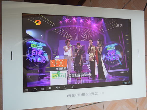 24.5'' Waterproof Smart LED TV , Android 4.4 OS Quad-core 1G RAM 8G ROM , USB HDMI WIFI ,3 Colors , DHL Free hipping(China (Mainland))