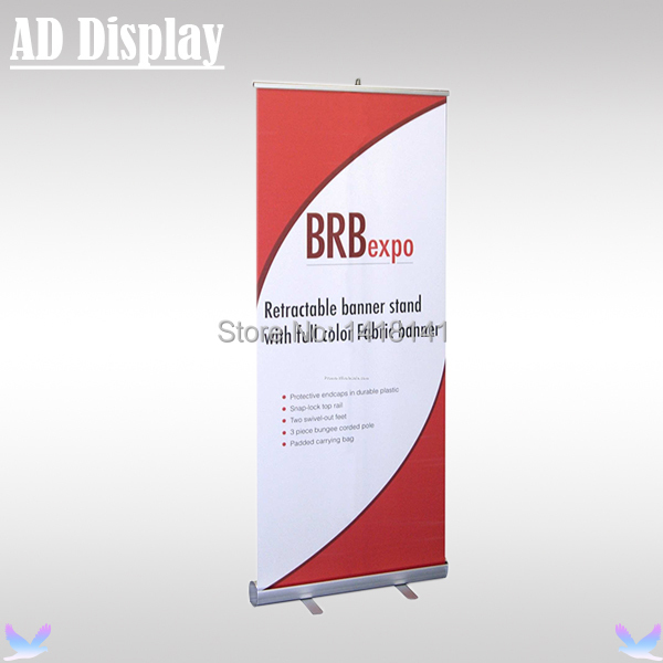 80*200cm Standard 2.3kg Full Aluminum Portable Roll Up Banner Display,Marketing Leading Exhibition Retractable Advertising Stand(China (Mainland))