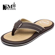 2016 Summer New Leather Sandals Men Shoes Large Size High-quality Mens Flip flops Fashion Man Flat with Leisure Slippers A1513