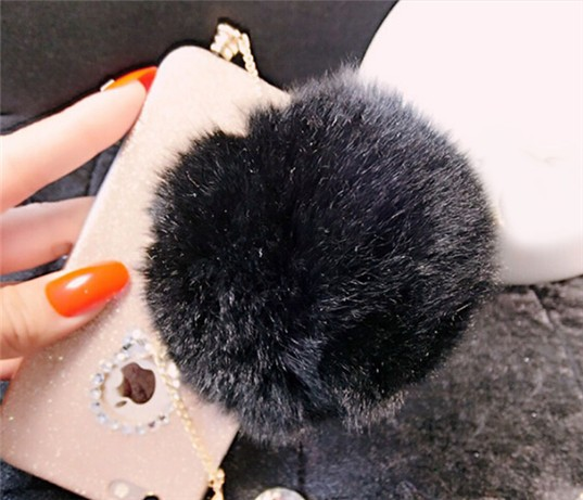 Fashionable universal cell mobile phone lovely rabbit fur cute dust plug For samsung for iphone  for htc for nokia