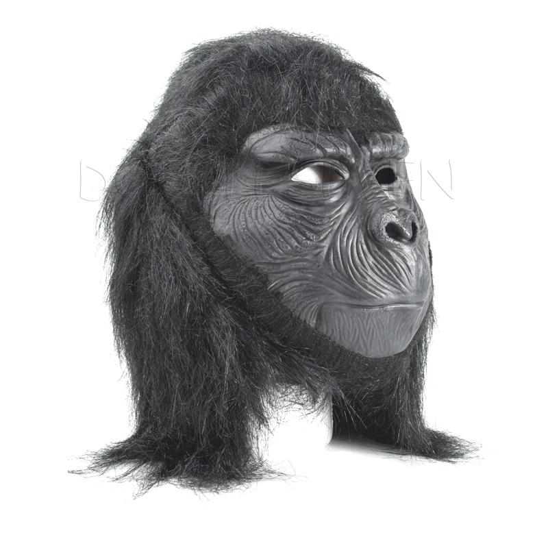 Black star star Rubber Latex Gorillas Mask For Halloween Holiday Party Mokey Maske Dragon Ball Toy Eating Banana Terror Gifts(China (Mainland))