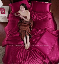 Imitation silk feeling nature fabric bedding sets purple luxury bed linen bed sheet set summer cool bedclothes bedspread #S50-1(China (Mainland))