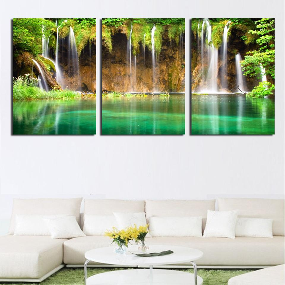 wall art painting canvas painting strong waterfall natural painting