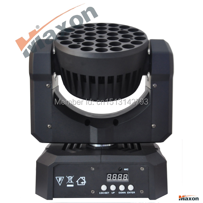 Maxon MLM-363 6pcs/lot Freeshipping LED Moving Head dmx led light dj stage lights with factory priceead Light mac101 36X3W rgb(China (Mainland))