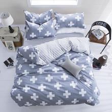 New Fashion Bedding Set 4pcs/3pcs Duvet Cover Sets Soft Cotton Bed Linen Flat Bed Sheet Set Pillowcase Home Textile Drop Ship