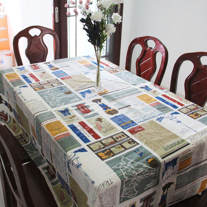 product Cina tradisional Asia Tenggara Penutup Striped Pola Cotton Tabel Kain Persegi Panjang Jenis Pastoral Tekstil Rumah Desember