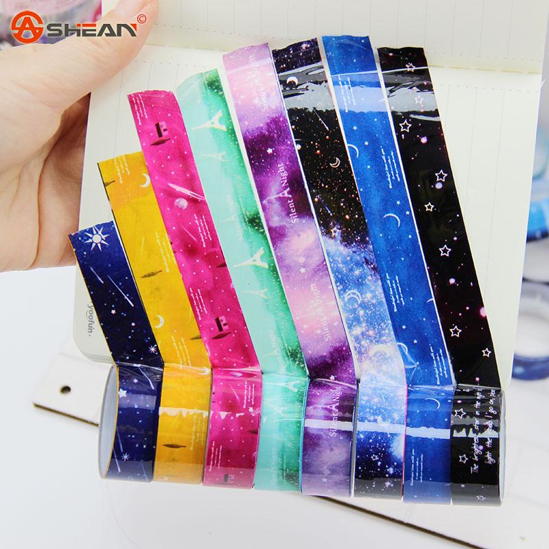 10pcs Masking Tape Pvc Roll DIY starry sky Washi Decor Scrapbooking Sticker Office Supplies(China (Mainland))