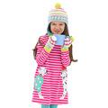 2016 Autumn Kids Clothes Girls Cartoon Dress Applique Cat Embroidery Cotton Girls Long Sleeve Children Dress