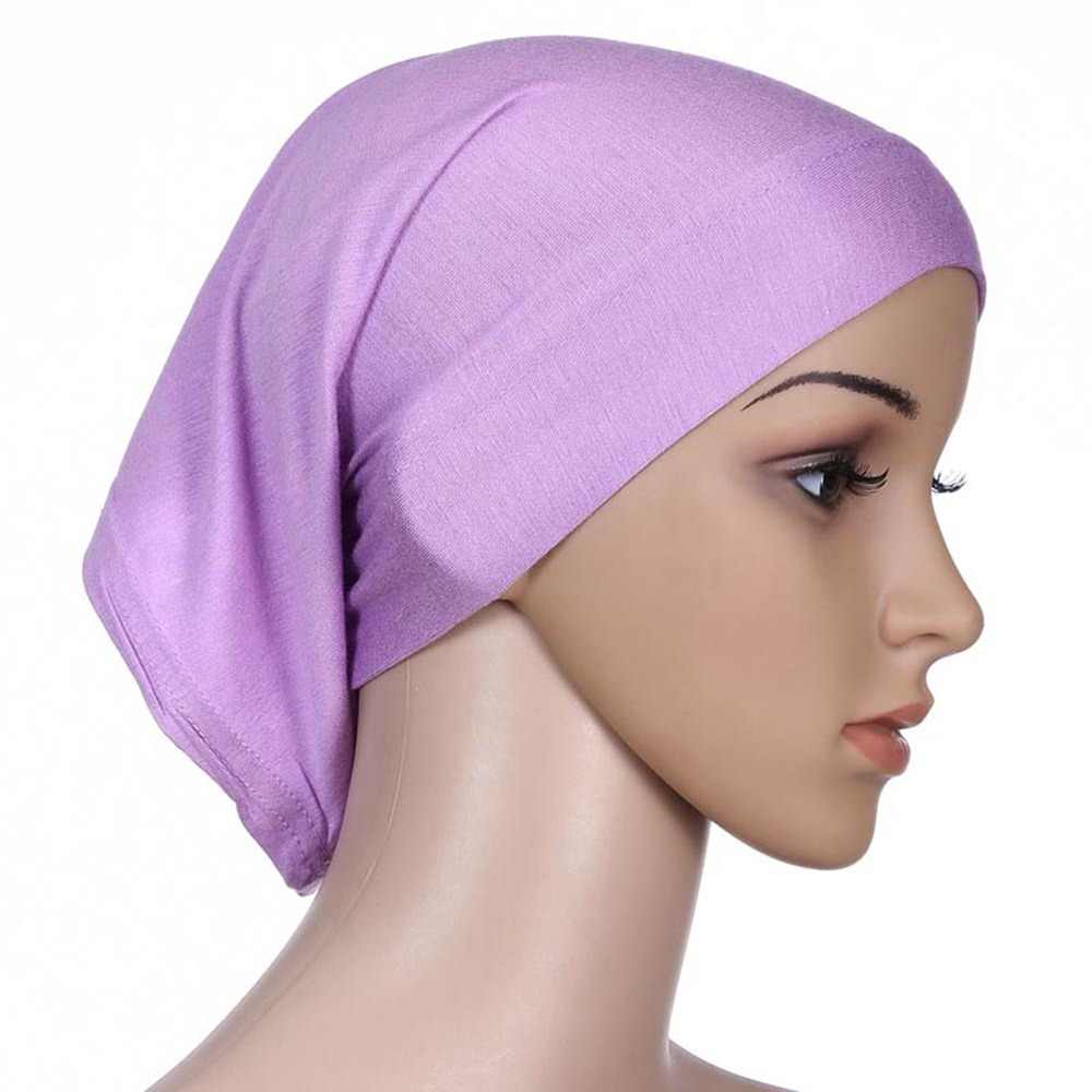 Colorful Women Under Scarf Tube Bonnet Cap Bone Islamic Head Cover Hijab(China (Mainland))
