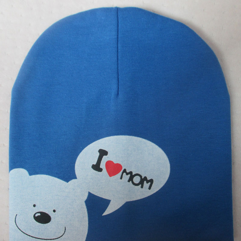 Kids Hat I Love Mom Dad Cap Bear Style Beanie for Children Baby Boys Girls Trendy Cotton Infant Toddler Knitted Hats New Arrival(China (Mainland))