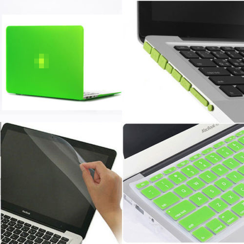 How To Remove Scratches From Matte Paint >> Rubberized Hard Case Cover for Apple MacBook Pro-13-Green