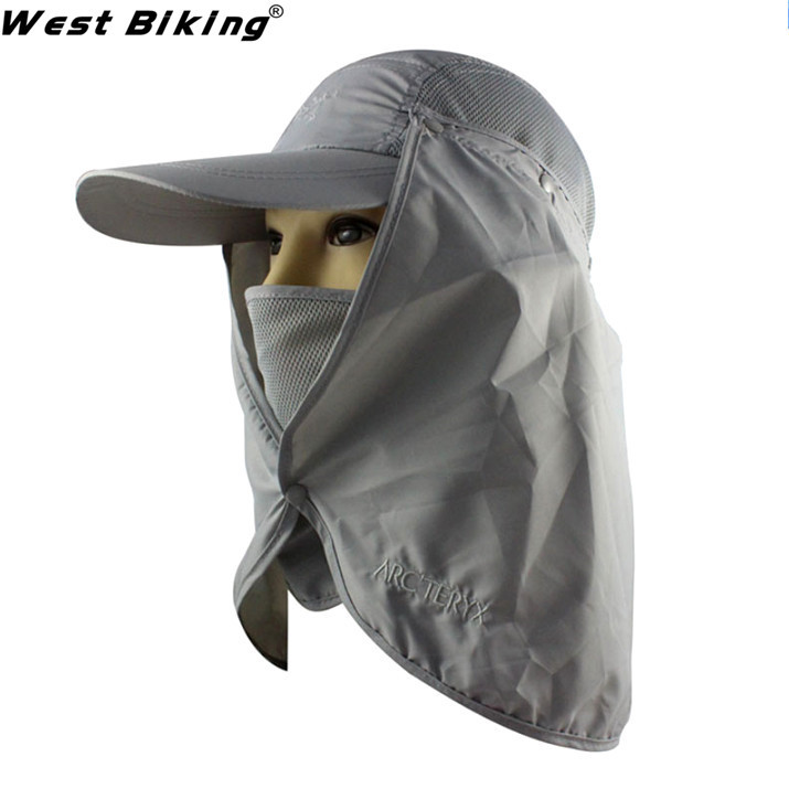 Coif Headcloth Fishing UV Protection Visor BMX Team Caps Windproof Fishing Cap Neck Face Flap Hat Quick-Drying Polyester Hats(China (Mainland))