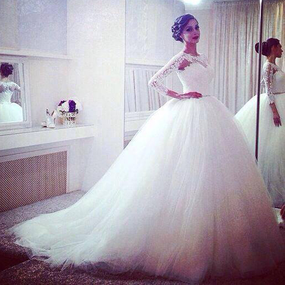 R el tulle perles tribunal train alibaba de mariage for Aliexpress robes de mariage