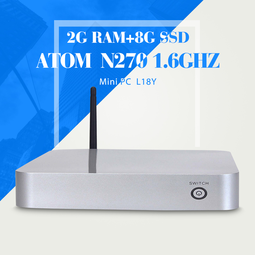 XCY N270 N450 2g ram 8g ssd+wifi small industrial pc latest desktop computers mini pc thin client industrial computer(China (Mainland))