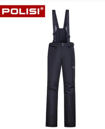 POLISI Professional Men's Windproof Waterproof Ski Bib Pants Breathable Winter Outdoor Sport Snow Skiing Snowboarding Trousers
