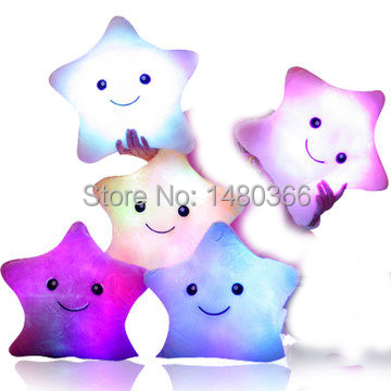 Led Light Pillow, Christmas gifts,Plush Pillow, Magic Pillow, Hot Colorful Stars, Anime Cushion, Juguetes, Toy, Kids Baby Toy(China (Mainland))