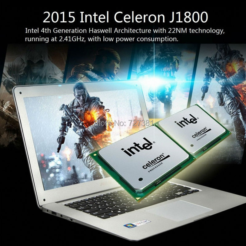 14 inch slim ultrabook laptop computer cpu Intel 8GB RAM 1000GB Windows 10/7 notebook pc Azerty Russian Spanish Keyboard(China (Mainland))