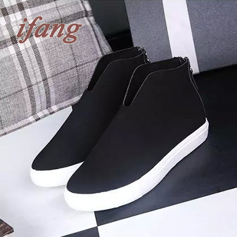 2015 New Arrive Women Boots Casual  Autumn Winter Boots Leather Ankle Boots Women Shoes Martin Boots Fashion Platform Shoes