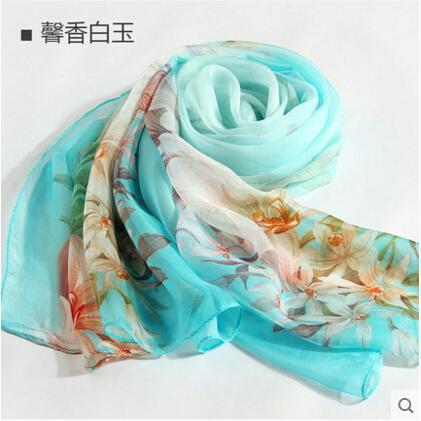 100% silk scarf high quality silk shawl Women scarf shawl womens fashion scarves sillk women thin long scarf shawl-b153(China (Mainland))