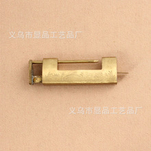 Chinese antique brass lock factory direct vintage small brass locks lock antique cross locked open padlock
