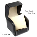 Top Leather Brand Watch Box Black Watch Storage Box Bracelet Watch Display Case Fashion Watch Packing